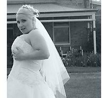 Adjusting dress Photographic Print