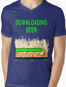 DOWNLOADING BEER Mens V-Neck T-Shirt