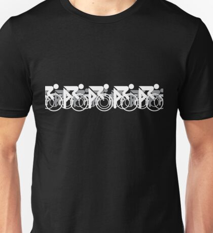 The Bicycle Race 2 White Unisex T-Shirt