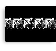 The Bicycle Race 2 White Canvas Print