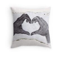 Heart on fire Throw Pillow