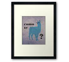 Como Te Llamas Humor Pun Poster Art Framed Print