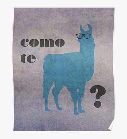 Como Te Llamas Humor Pun Poster Art Poster