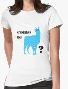 Como Te Llamas Humor Pun Poster Art Womens Fitted T-Shirt