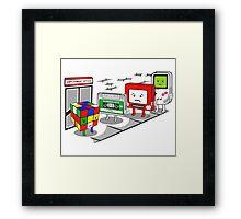 Employment office Framed Print
