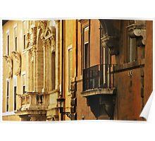 Orange Walls of Rome Poster