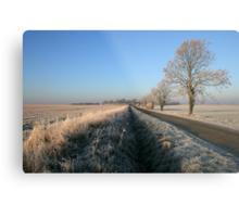 Birthorpe Road Frost Metal Print