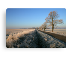 Birthorpe Road Frost Canvas Print