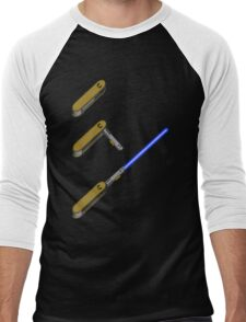 light-swiss-knife-blue-3 Men's Baseball ¾ T-Shirt