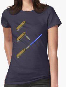 light-swiss-knife-blue-3 Womens Fitted T-Shirt