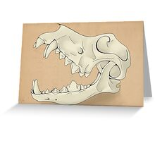 Ancient Canine Skull Greeting Card