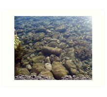 Clear water Art Print
