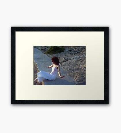 I wish I can fly... (sold) Framed Print