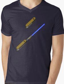 light-swiss-knife-blue-2 Mens V-Neck T-Shirt