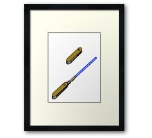 light-swiss-knife-blue-2 Framed Print