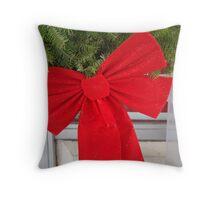 Christmas bow Throw Pillow