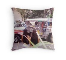 Philippine jeepneys.  Throw Pillow