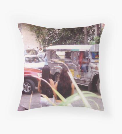 Philippine jeepneys.  Throw Pillow
