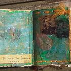 Tobacco & Roses - altered book detail by Paula MacGregor