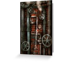 Steampunk - Plumbing - Pipes and Valves Greeting Card