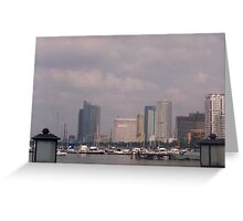 Manila bay.  Greeting Card