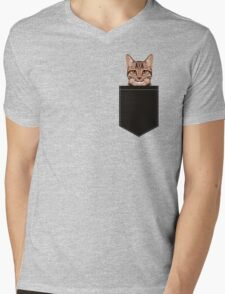 Ripley - Tabby cat gifts for cat lovers and cat lady gift ideas. Tabby cat owner gifts Mens V-Neck T-Shirt