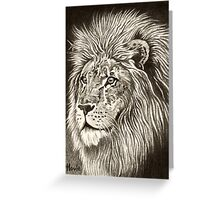 ACEO Lion I Greeting Card