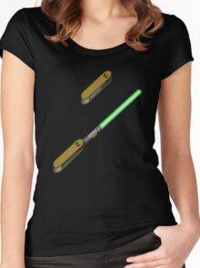 light-swiss-knife2 Women's Fitted Scoop T-Shirt
