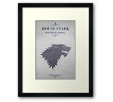 House Stark - Game of Thrones Framed Print