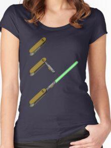light-swiss-knife3 Women's Fitted Scoop T-Shirt
