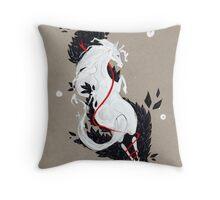 HORSE RIBBONS Throw Pillow