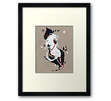 HORSE RIBBONS Framed Print