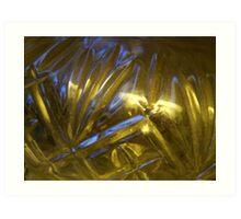 Blue Light through Glass Art Print