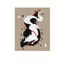 WHITE FOX RIBBONS  Art Print