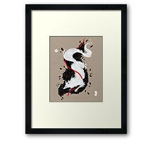 WHITE FOX RIBBONS  Framed Print