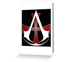 Assassins Creed Choose Your Allegiance Black  Greeting Card