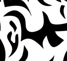 Tribal wolf head on light brown background Sticker