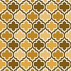 Four Shades Quatrefoil Pattern Coffee by Ra12