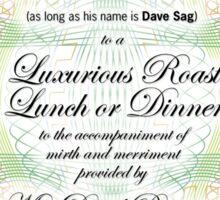 Dave Sag's Voucher Sticker