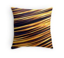 Lines in the water Throw Pillow