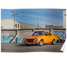 Orange Ford Escort Mk1 Poster