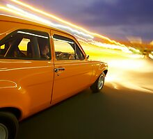 Orange Ford Mk1 Escort at Night by John Jovic