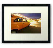 Orange Ford Mk1 Escort at Night Framed Print