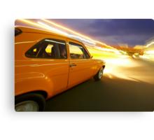 Orange Ford Mk1 Escort at Night Canvas Print