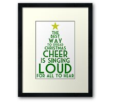 Spread Christmas Cheer Framed Print