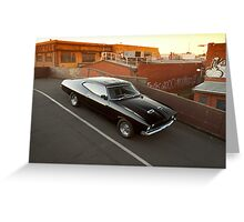 Black Ford XA Coupe Greeting Card