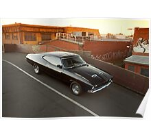Black Ford XA Coupe Poster