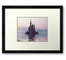 Sinking Castle Framed Print
