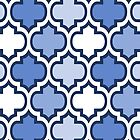 Blue and White Quatrefoil Pattern by Ra12