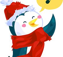 Christmas Penguin by meervahl